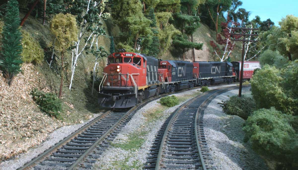 Model railroad 4 percent grade mean