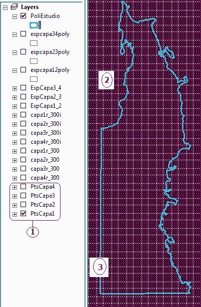 shape de puntos para capas en arcgis