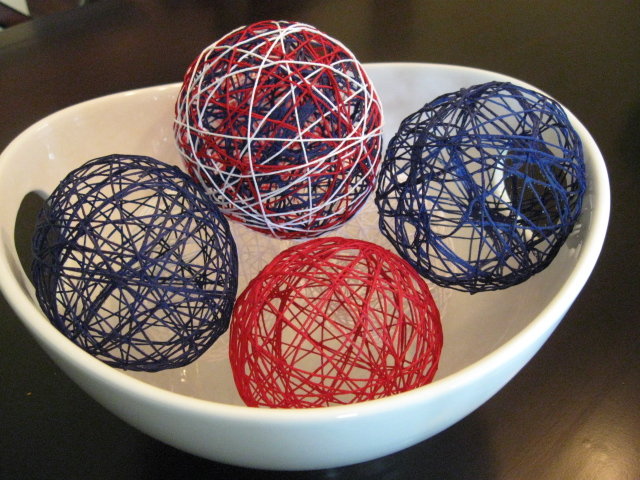 How To Make Decorative String Balls Impressive Craft Klatch ® Patriotic Decorative String Balls Decorating Inspiration