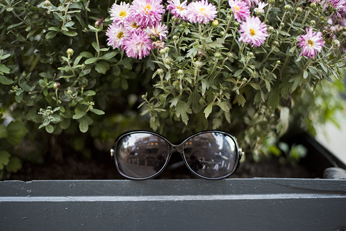 Skinny Buddha black sunglasses