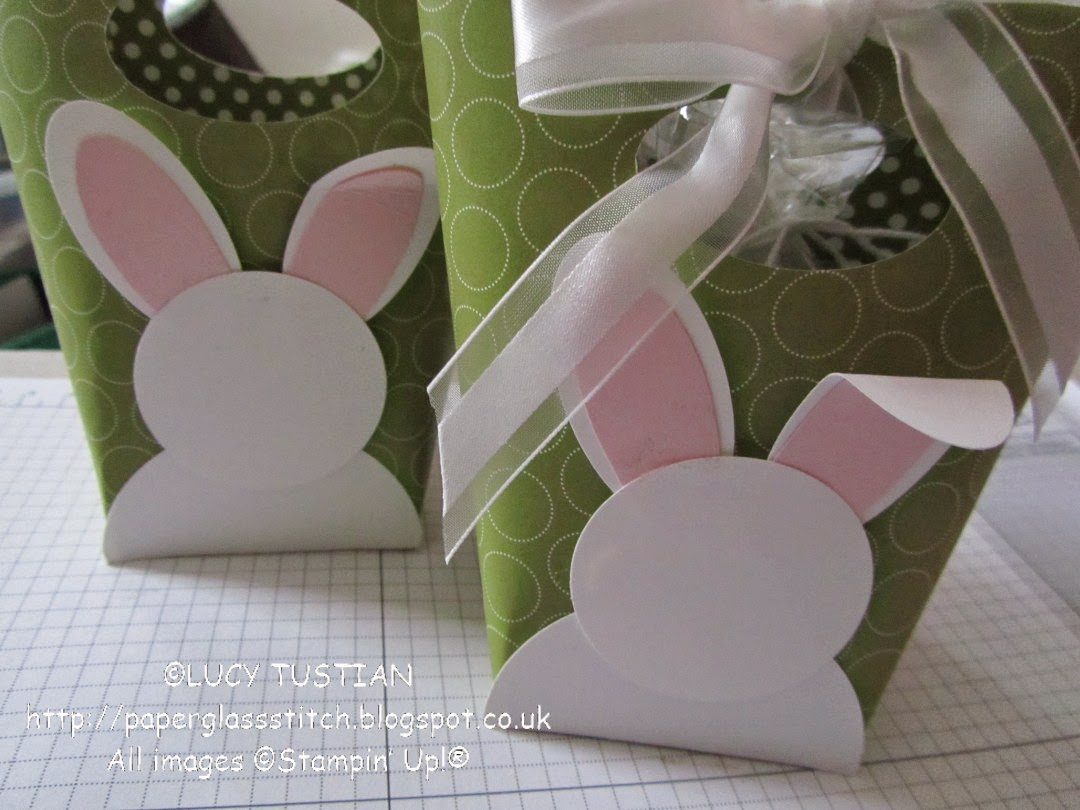 paper glass stitch easter bunny bucket gift bag tutorial