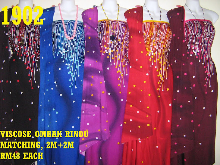 VRM 1902: VISCOSE OMBAK RINDU MATCHING, 2M+2M, 5 COLORS