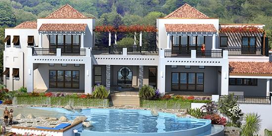 The main house at the Shoal Bay beach villa complex, Anguilla