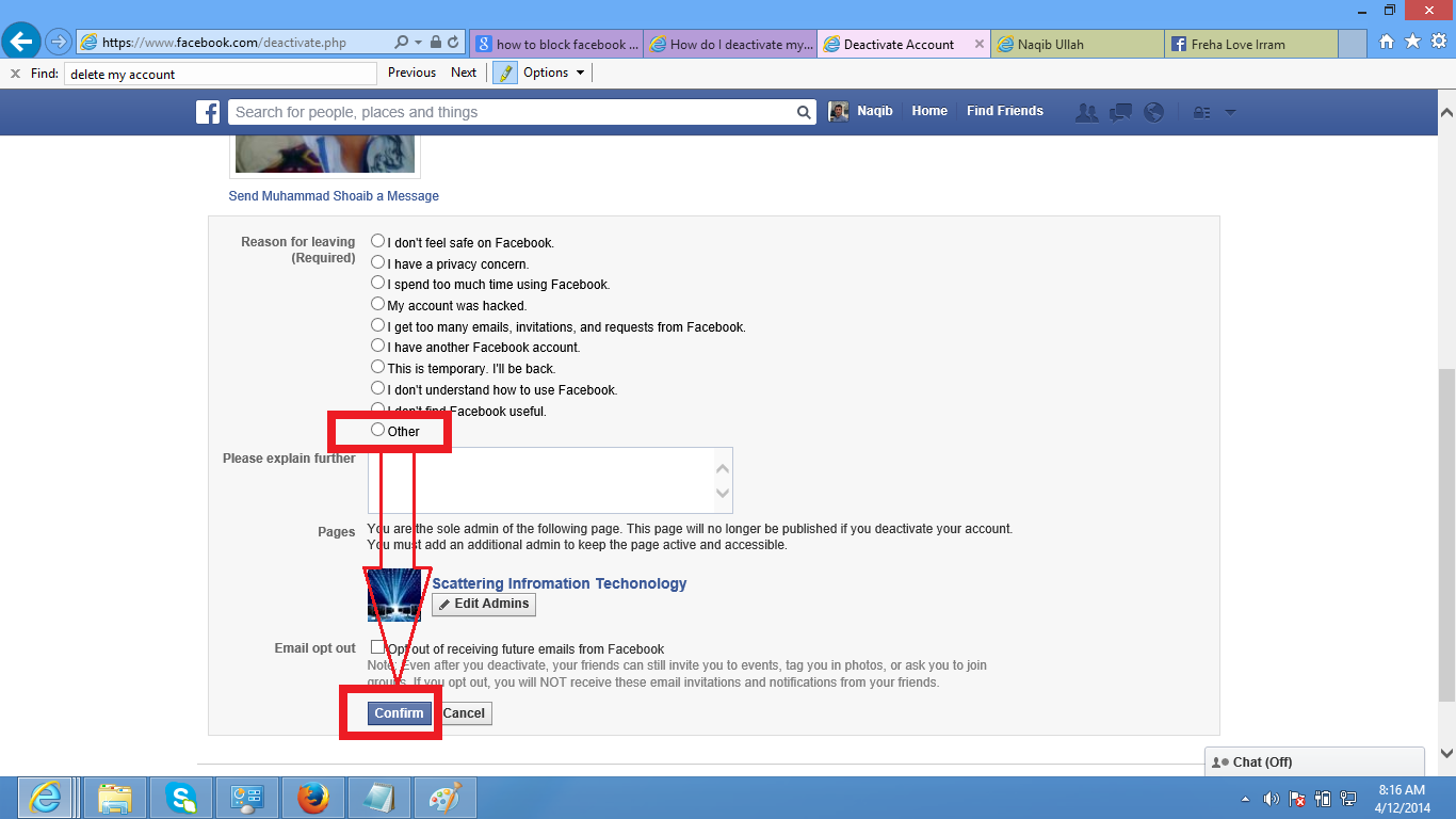 How To Delete Your Facebook Account Not Just Deactivate Solution Note:  Advantage Of Deactivation Is