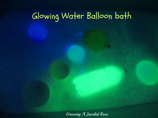 Glowing Bath Play Ideas ~ Growing A Jeweled Rose