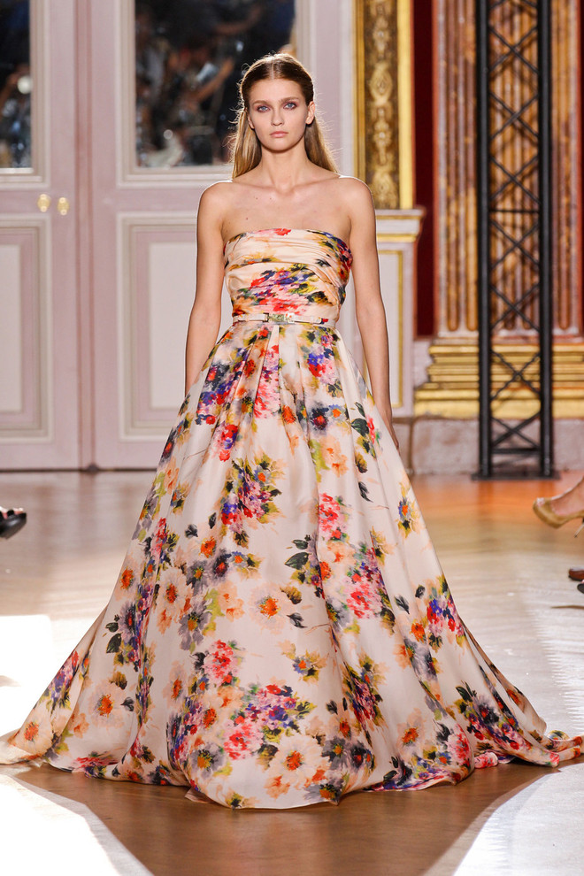 Красивые платья с цветами фото