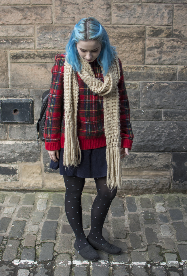 tights with hearts hosiery corduroy navy skirt urban outfitters