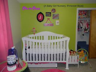 Pinterest inspired baby girl nursery