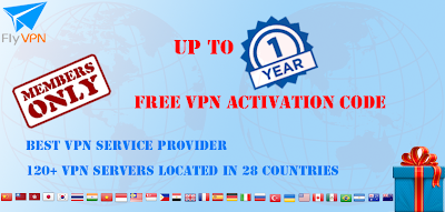 Maximum de 1 an VPN code d'activation gratuite pour FlyVPN membres