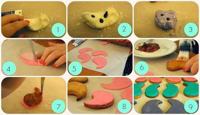 procedimento per la copertura dei biscotti con fondente colorato