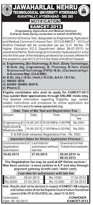 www.apeamcet.org EMCET Notification 2013 Apply Online Application form Fee Date Fine Date Hall Ticet Admnit Card Download Exam Syllabus Rank Card Marks List
