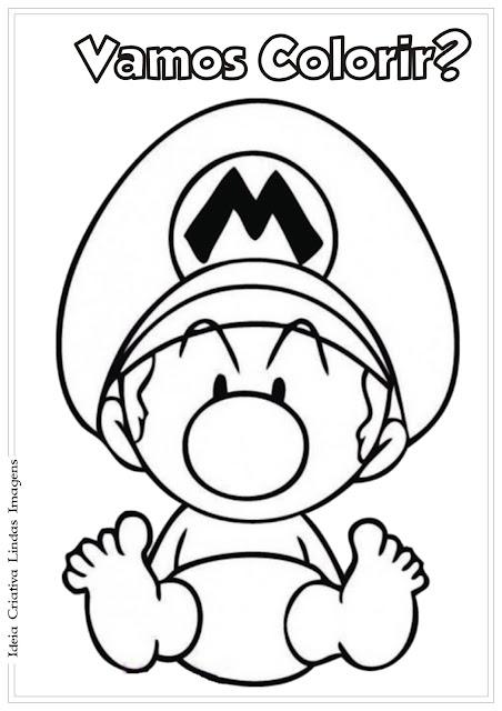 Desenho Super Mario Baby para colorir