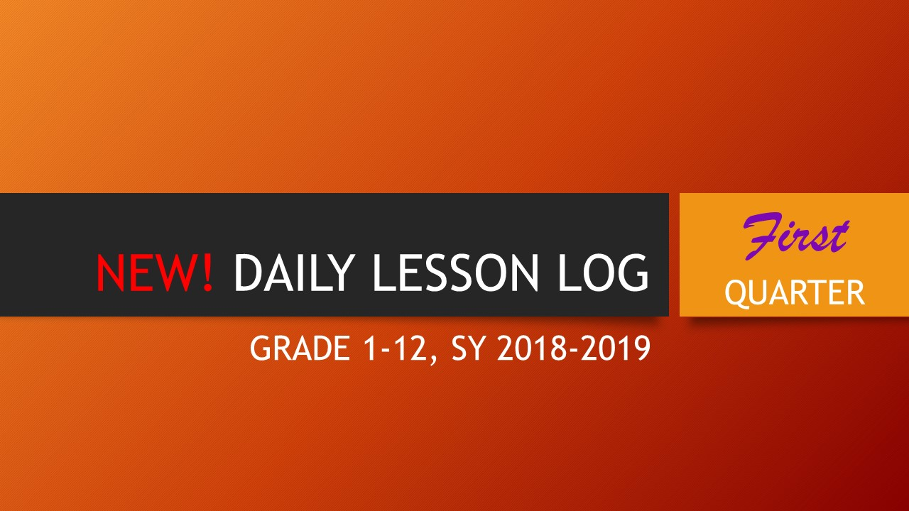 2018-2019 DAILY LESSON LOG