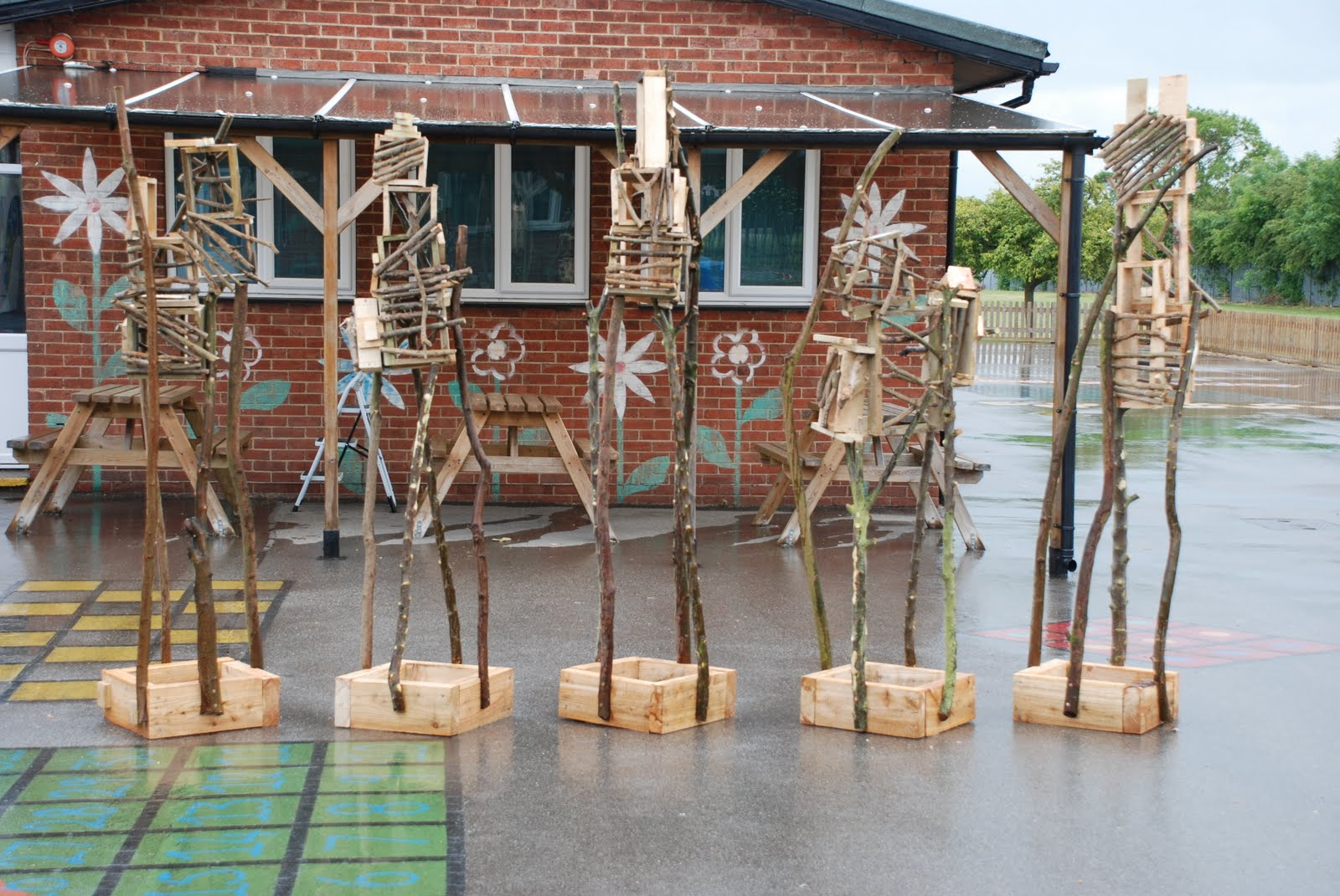 Beau My Proposal To The School Was Totemic Sculpture At Least 1.8 Metres High  Constructed From Cut Up Pallet Wood And Rustic Hazel, Ash And Apple  Stickwood