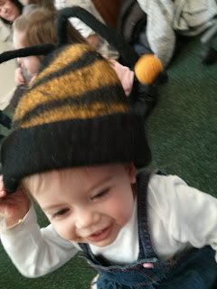 youngest in bee hat