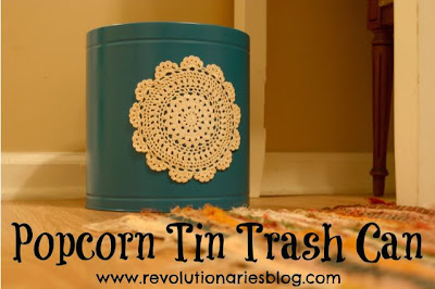 Popcorn Tin Trash Can