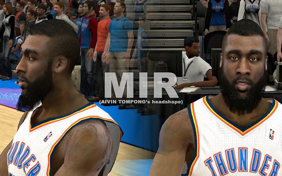 NBA 2K12 Thunder Cyberface Pack V2 W  Enhance Tattoos James Harden