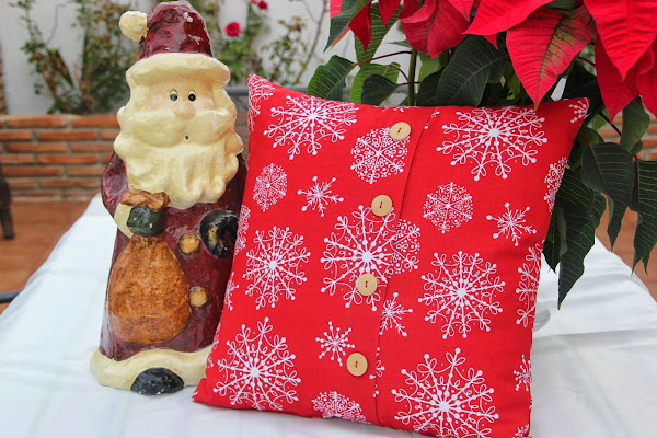 #DIY Navidad: C�mo hacer cojines para decorar tu casa en Navidad.