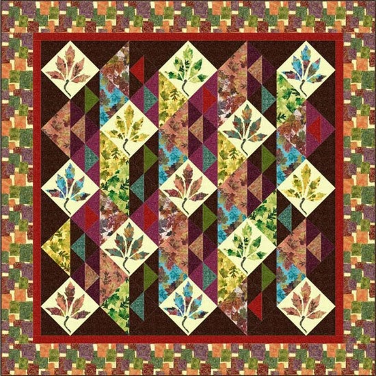 Quilt Template Leaves : Quilt Inspiration: Free Pattern Day ! Autumn Leaves quilts