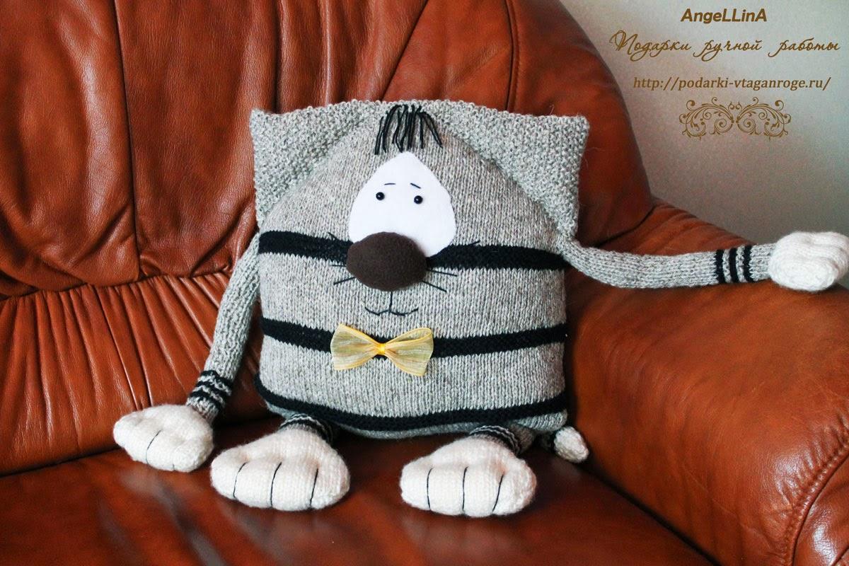 Подушка игрушка своими руками вязание 86