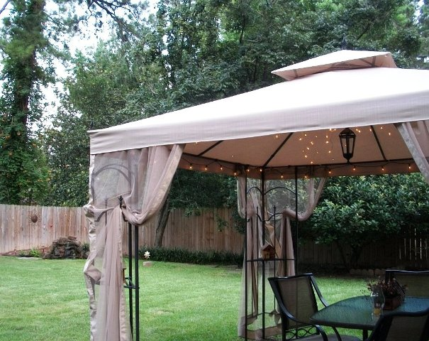 I stopped at Home Depot and bought ourselves an outdoor fabric gazebo