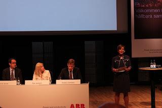 Informationschef / kommunikationsdirektör Suzanne Lagerholm tog startflaggan.