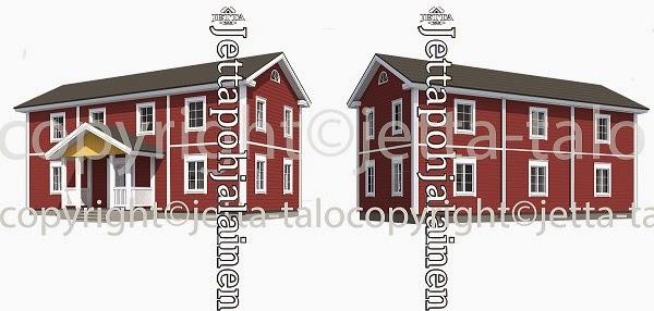 Pohjalainen talo Jetta-talolta