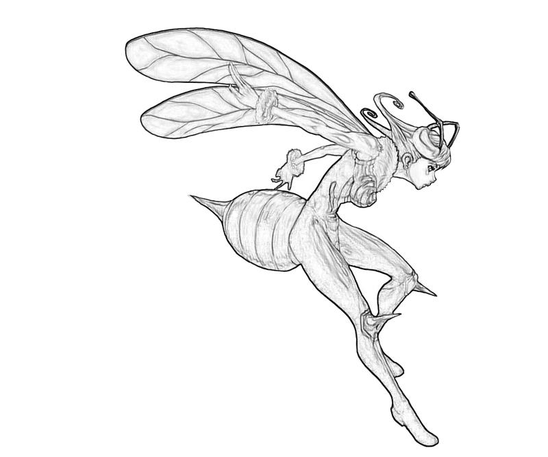 q-bee-attack-coloring-pages