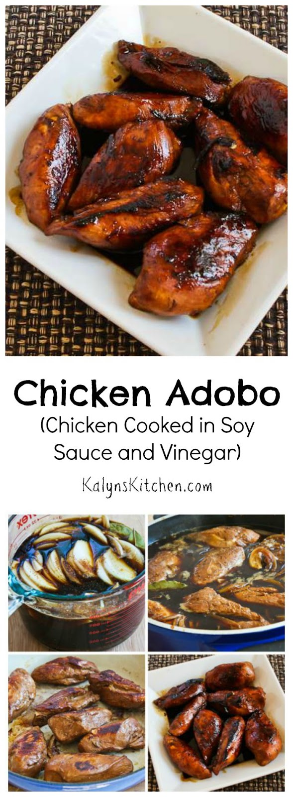 ... ®: Filipino Chicken Adobo (Chicken Cooked in Soy Sauce and Vinegar