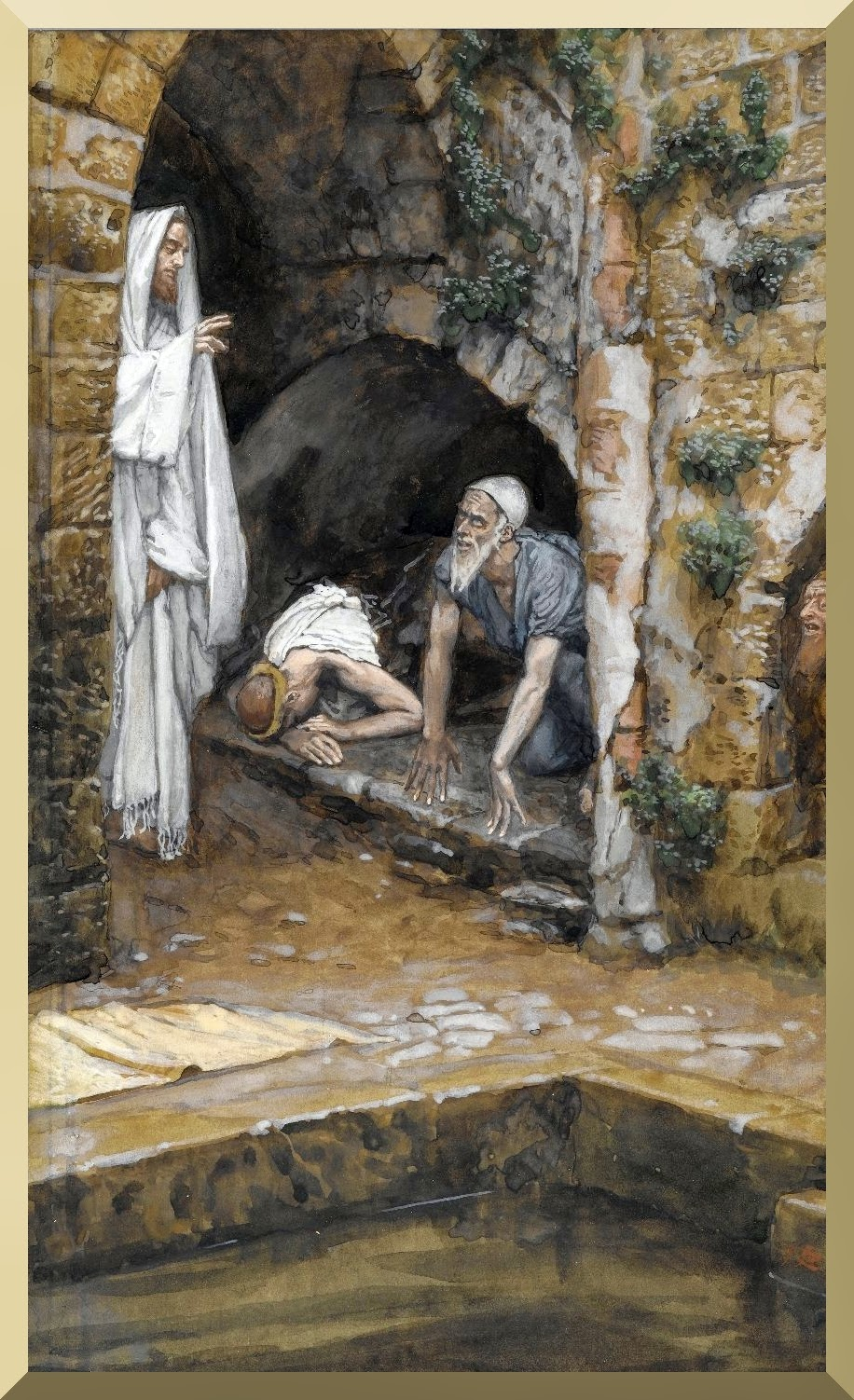 """The Man with an Infirmity of Thirty-Eight Years"" -- by James Tissot"