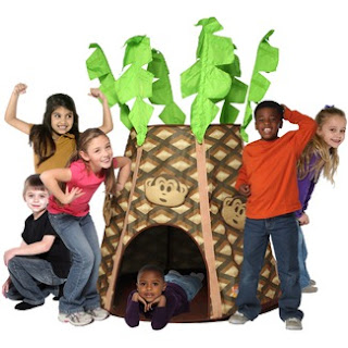 palm tree play hut tent