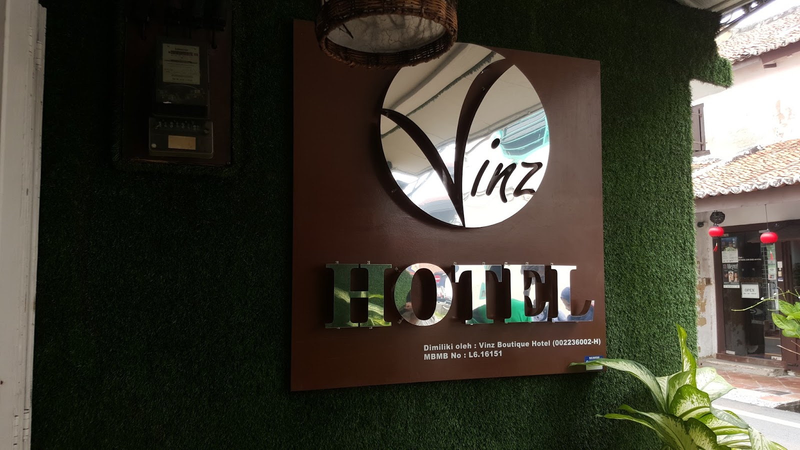 We Stayed At Vinz Boutique Hotel A Little Two Storey Located Just 1 Minute Walk Away From The Busy Jonker Street Very Friendly Staff