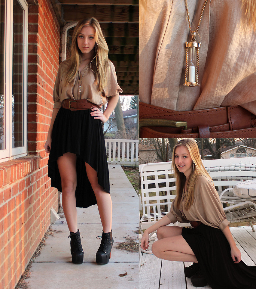 High low skirts outfit pictures