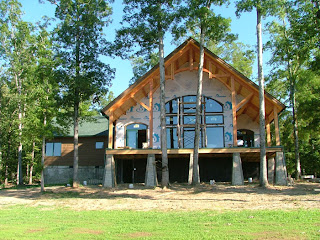 timber frame home in tennessee