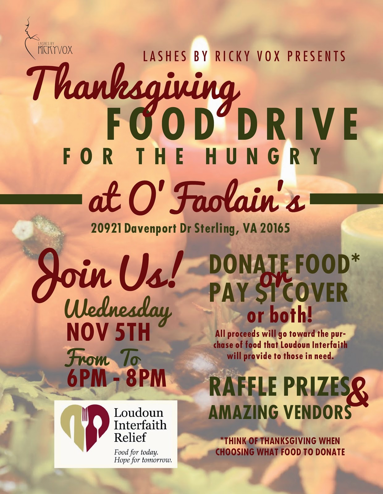 Food Drive Northern Virginia November
