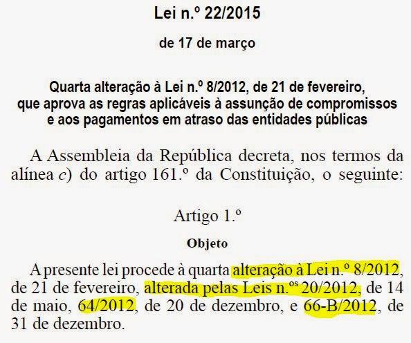 Lei 22/2015 de 17 de março