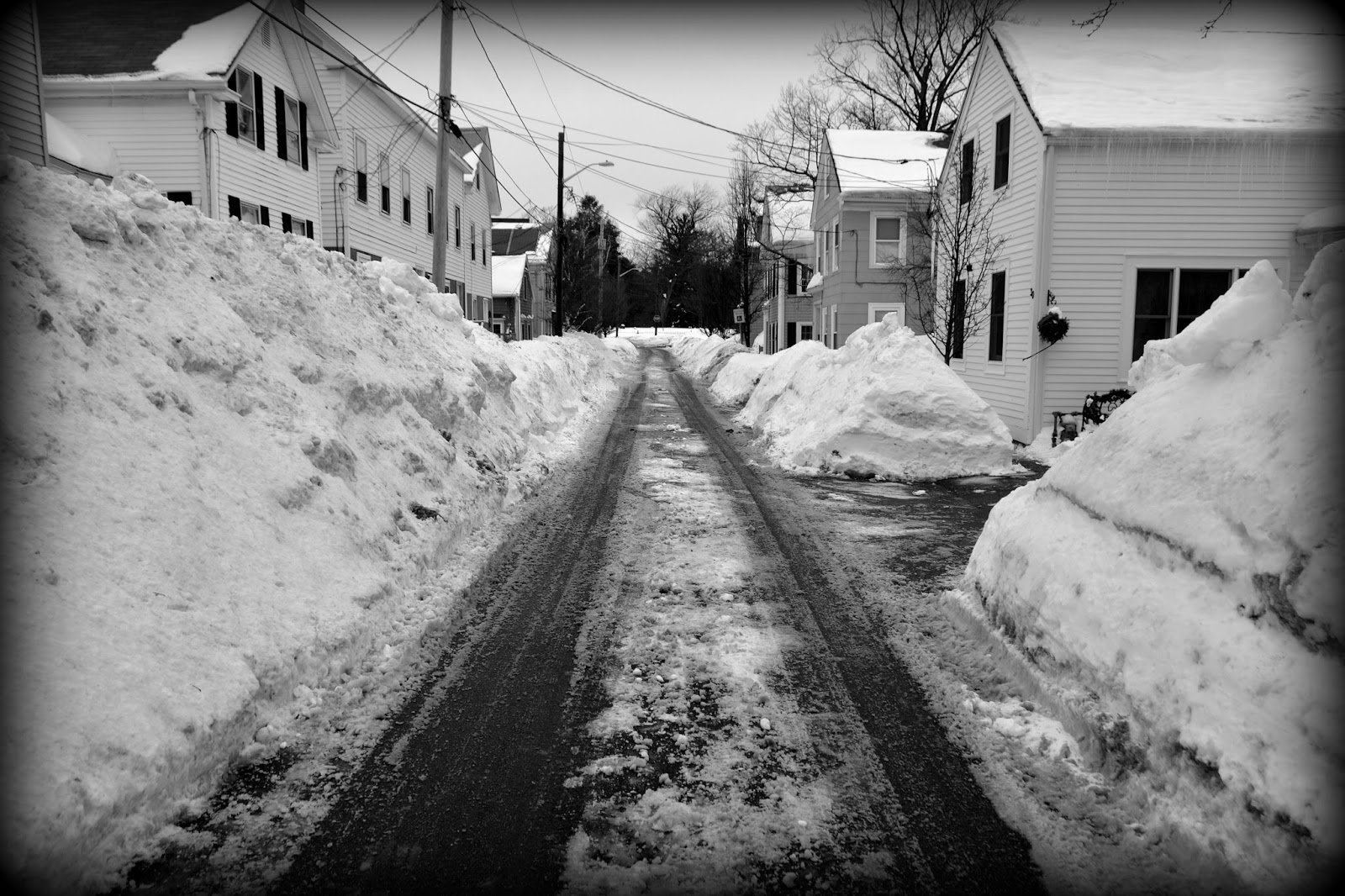 Snowbanks, Winter 2015, Salem, Massachusetts, snow, blizzards, storms