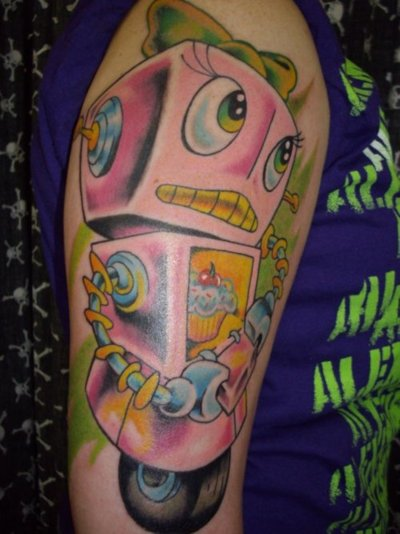 tumblr lj4o9gGV9d1qzabkfo1 400 >#tattoofriday   Robot