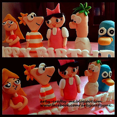 Perry the platypus fondant figures