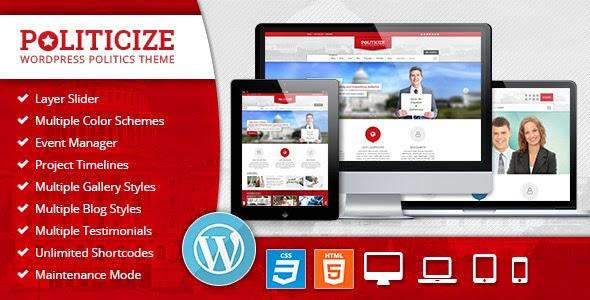 Politicize - Political Responsive WordPress Theme