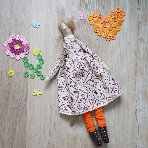 кукла руной работы, handmade