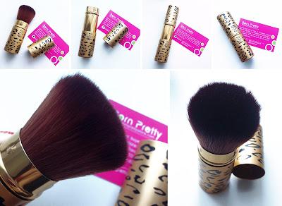 Born Pretty Store retractable brush Leopard Gold Makeup Cosmetic Powder Blush