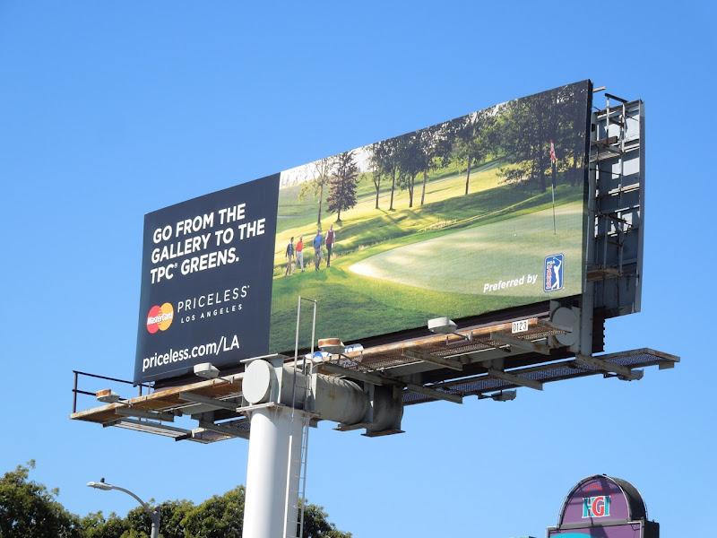 MasterCard Priceless golf billboard
