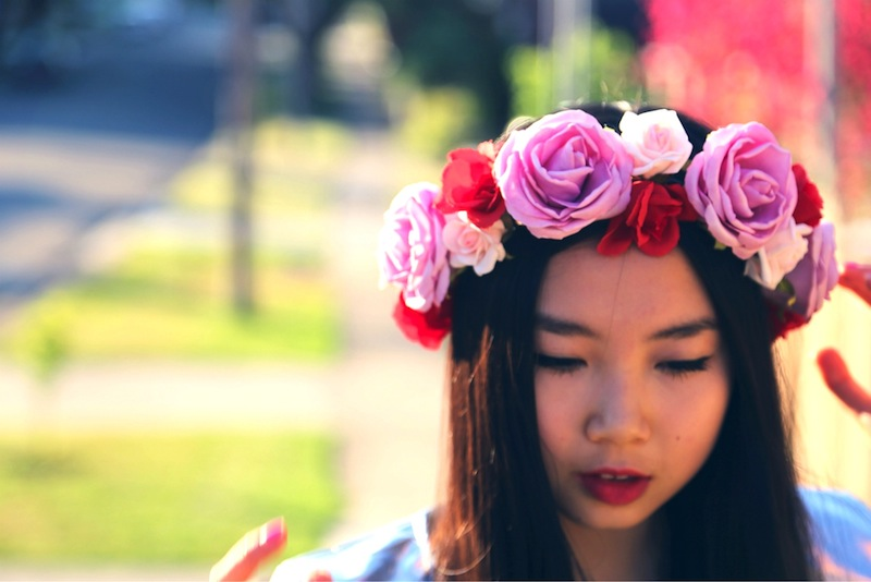 floral crown, Etsy, photography, P & P Crowns, floral garland, Lana Del Rey, DIY floral crown