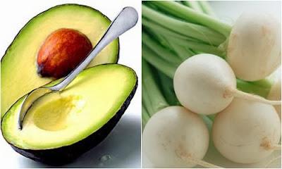 Cách làm trắng da mặt nạ bơ và củ cải đường