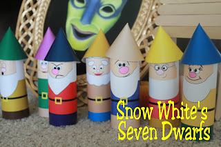 Snow White's Seven Dwarfs Printable Toilet Paper Craft