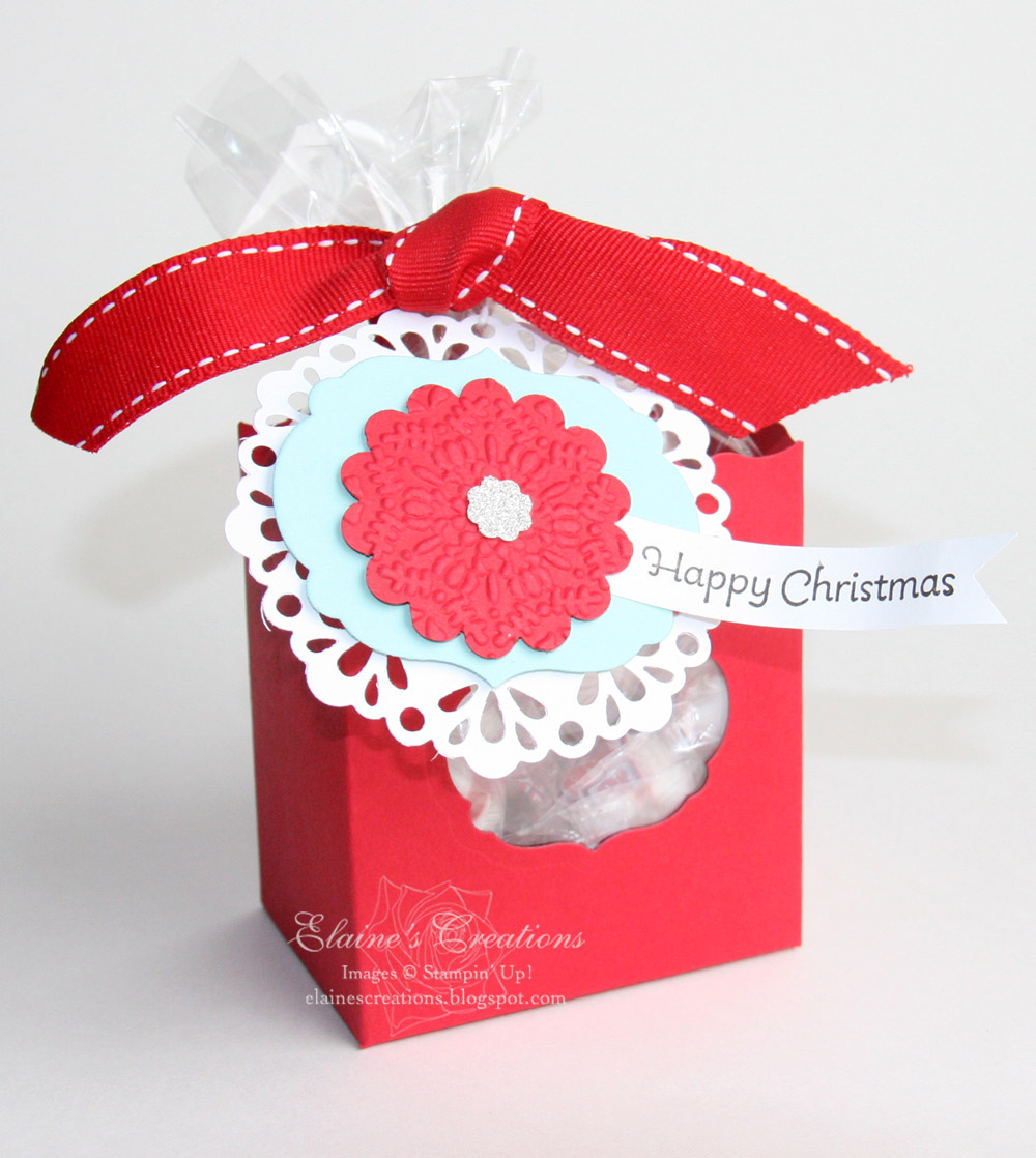 Elaine s creations christmas fancy favor box