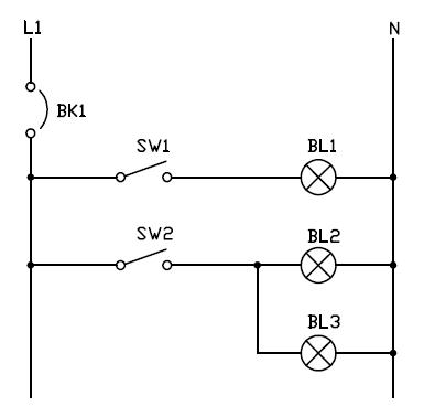Conexion de dos interruptor simple