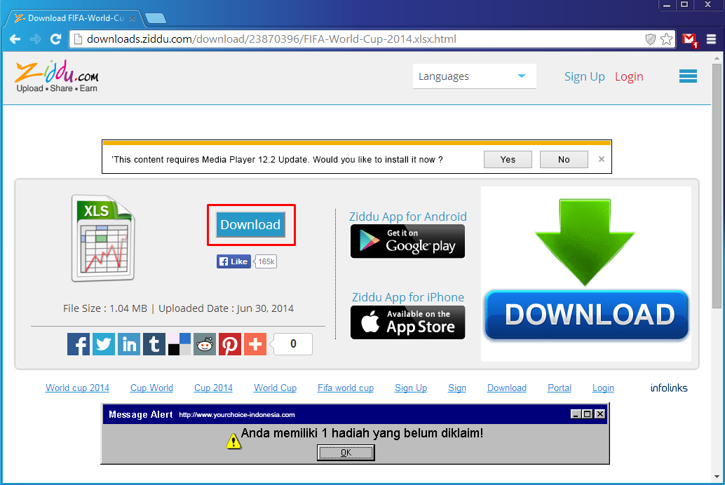 Cara Download File di Ziddu 1