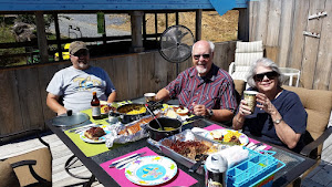 Tim, Larry and Linda at lunch.